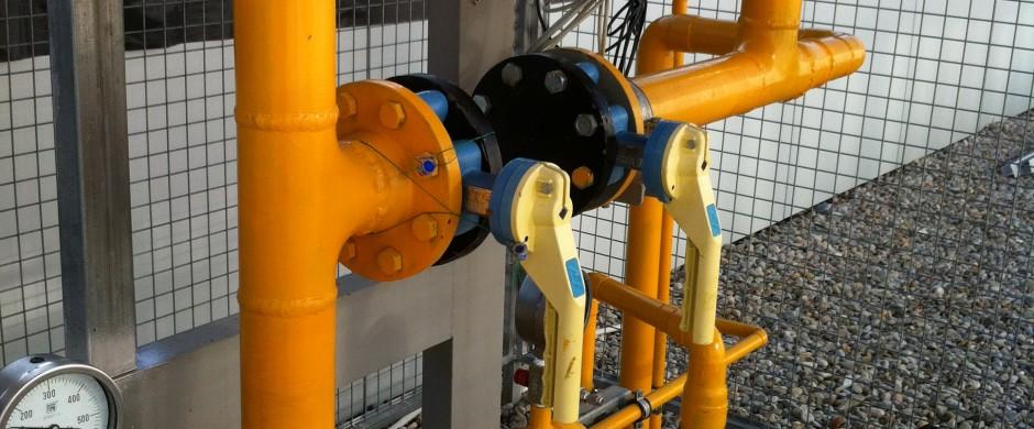 Doble linea Contaje ERM. Empresa especialista en instalaciones gas industrial Barcelona Gastechnik